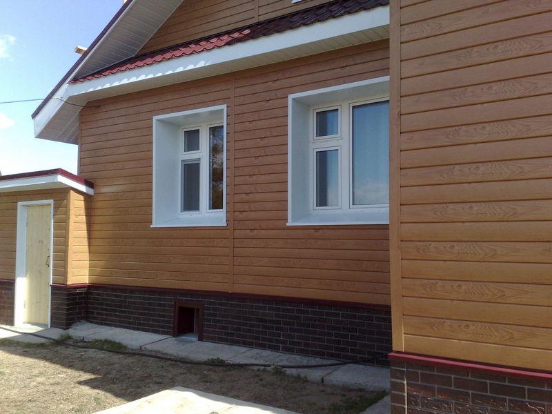Фасад дома из сайдинга