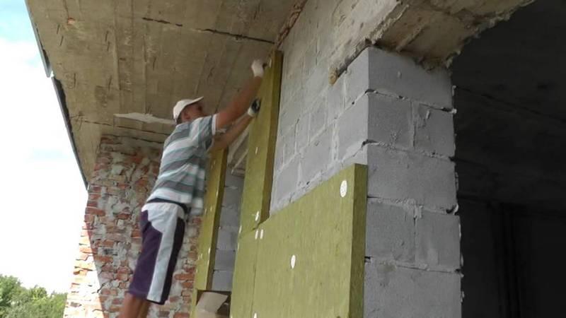 Утепление стен дома минеральной ватой